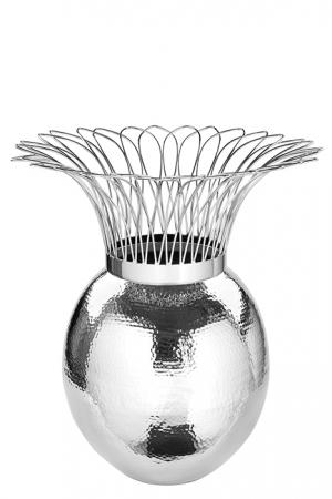 Vaza TROPIC, metal/nichel, 46x45 cm