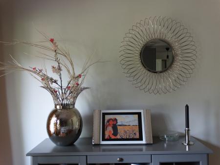 Vaza TROPIC, metal/nichel, 46x45 cm2