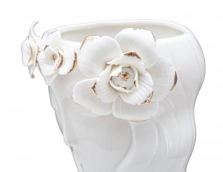 Vaza Woman Cute, Portelan, Alb, 14.8X13X29 cm, Mauro Ferretti [4]