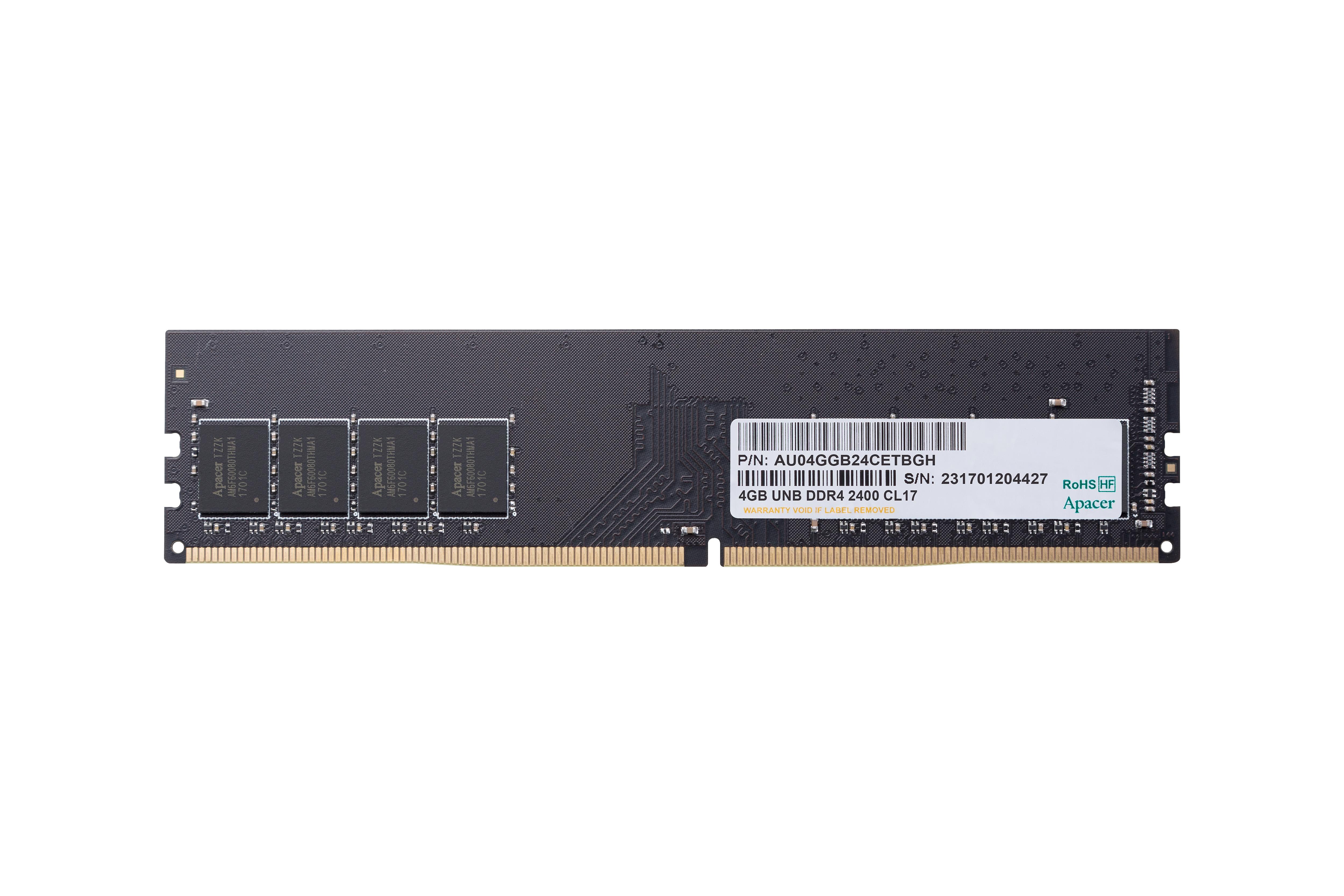Memorie Apacer 4GB DDR4 2400MHz 1.2V CL17 0