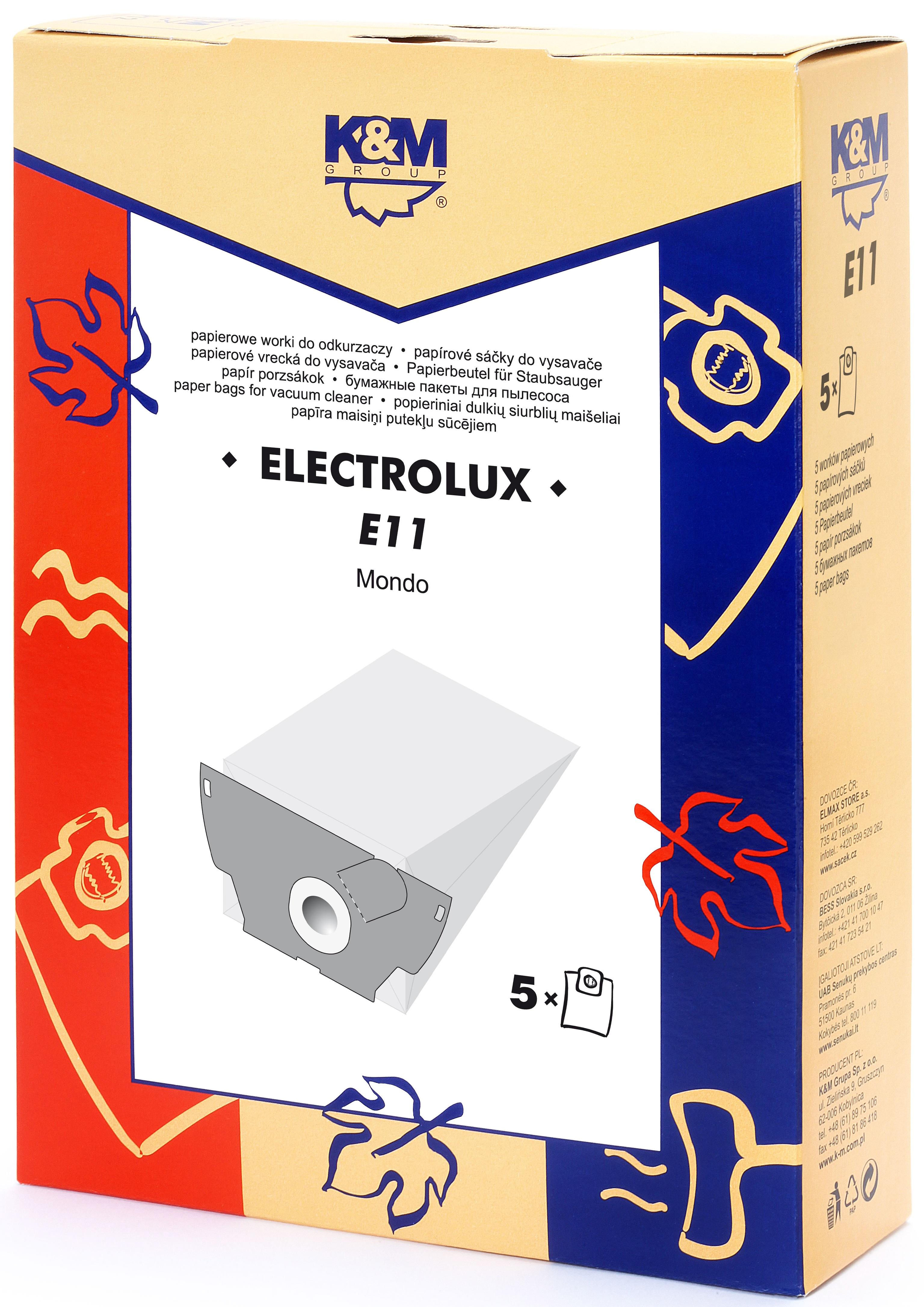 Sac aspirator Electrolux Mondo, hartie, 5X saci, K&M 0