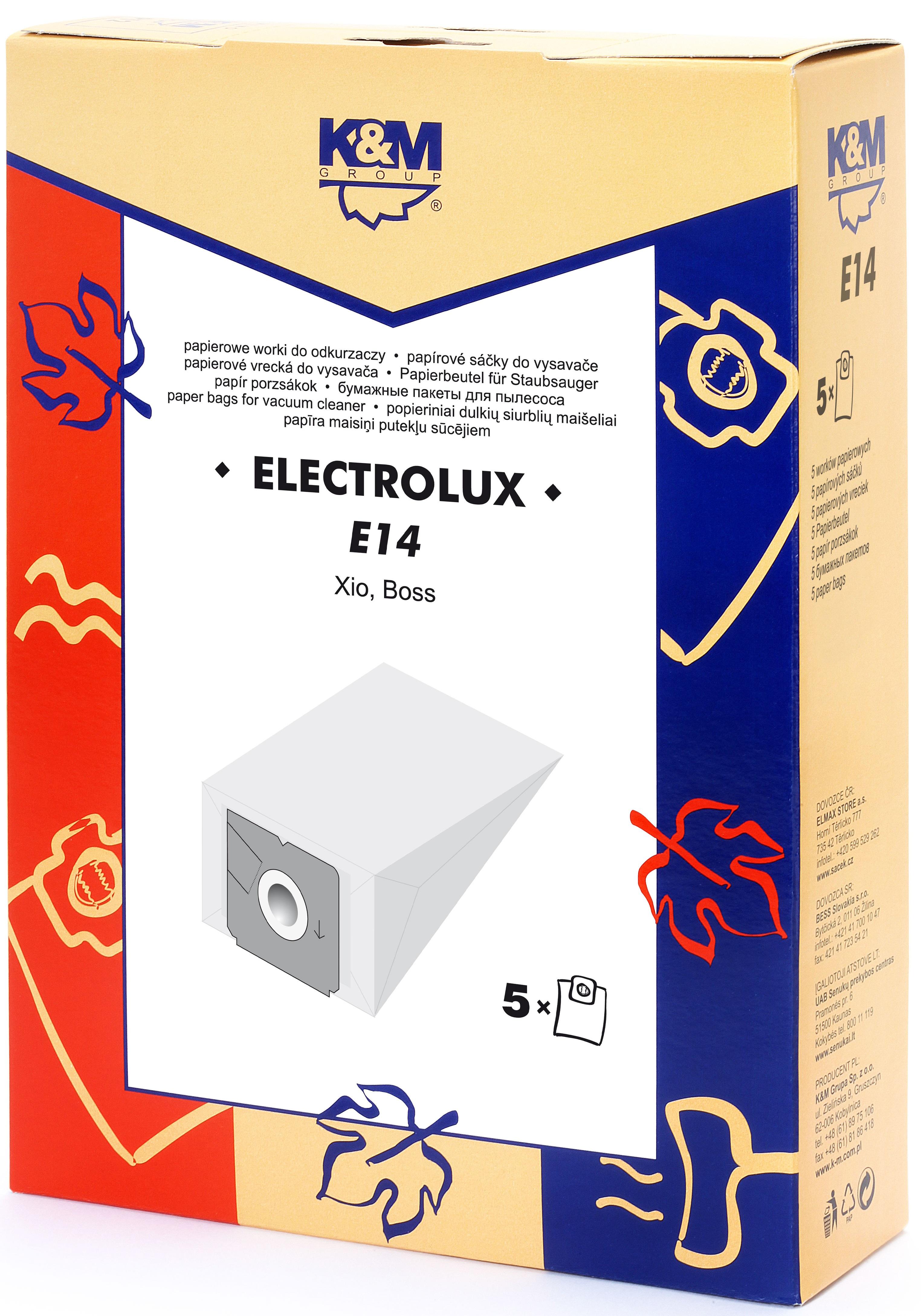 Sac aspirator Electrolux Xio, hartie, 5X saci, K&M [0]