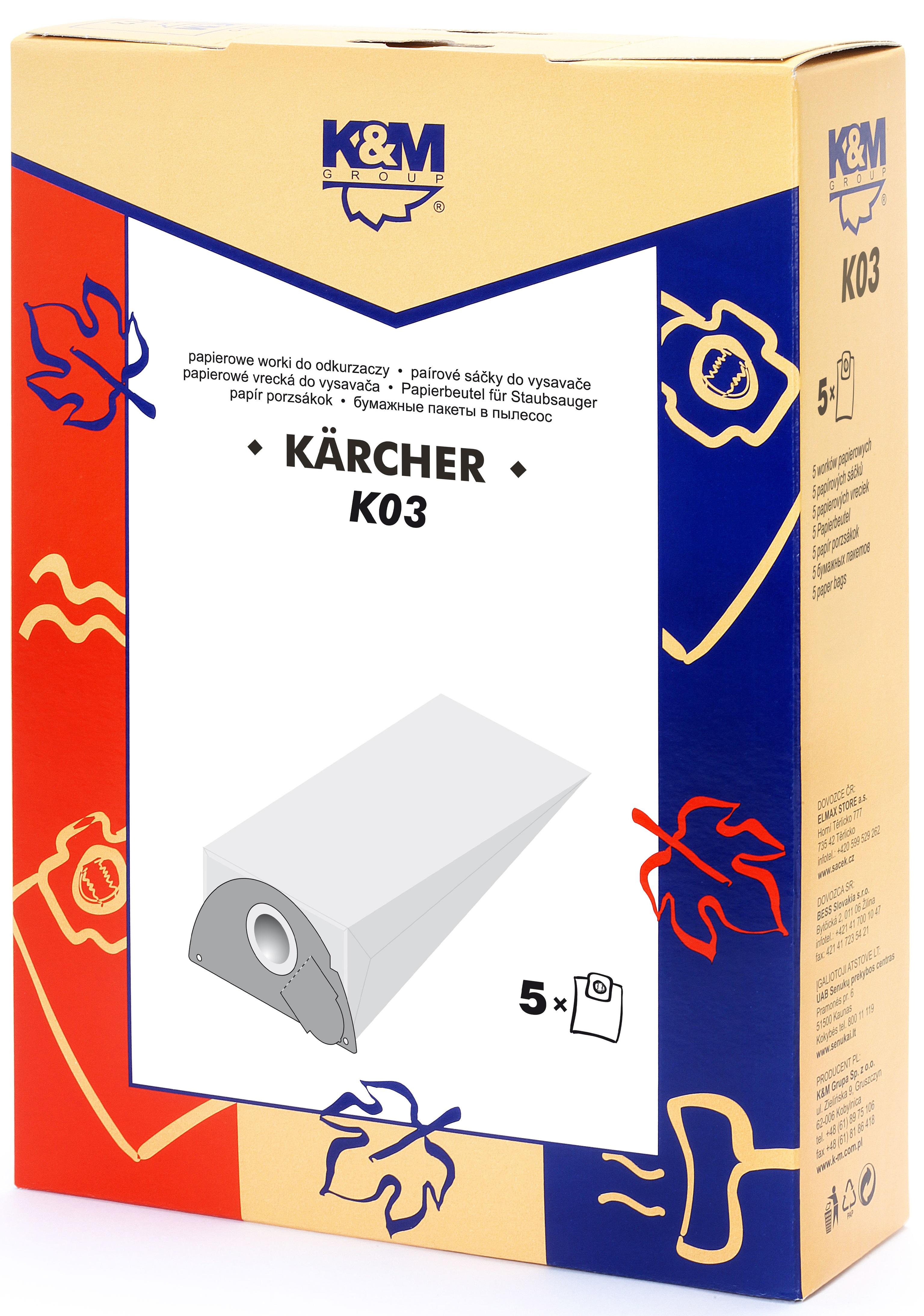 Sac aspirator KARCHER 2101, hartie, 5X saci, K&M [0]