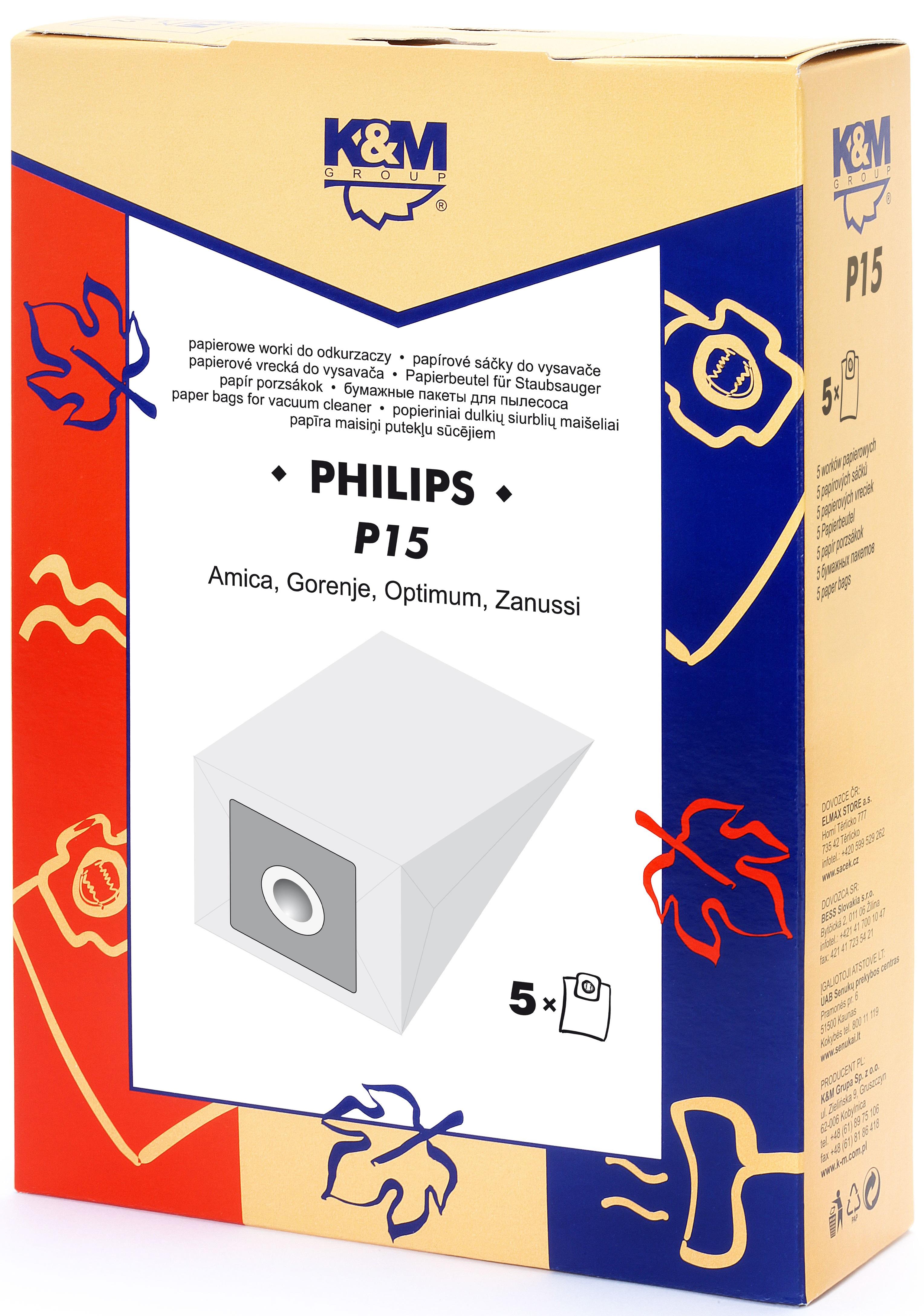 Sac aspirator Philips FC 8344, hartie, 5X saci, K&M 0