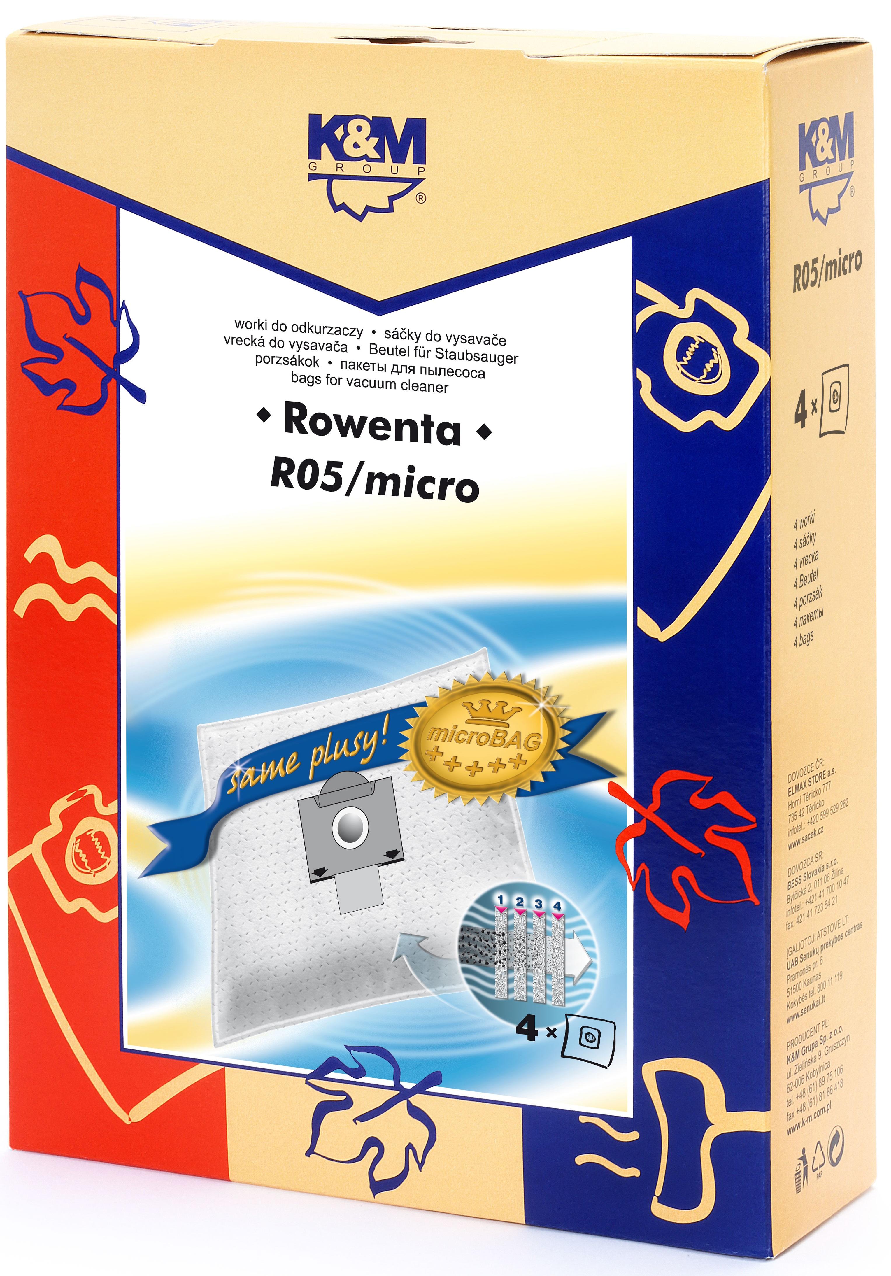 Sac aspirator Rowenta ZR76, sintetic, 4X saci, K&M 0