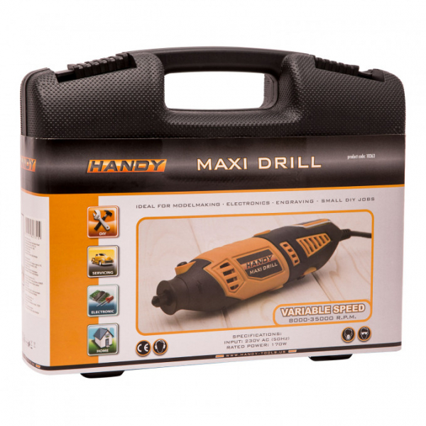 Mini-masina de gaurit si gravat universala, HANDY DRILL MAXI [2]