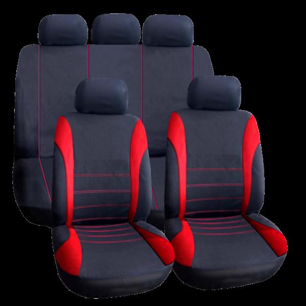 Huse Scaune Auto Universale - insertie culoare rosie 0