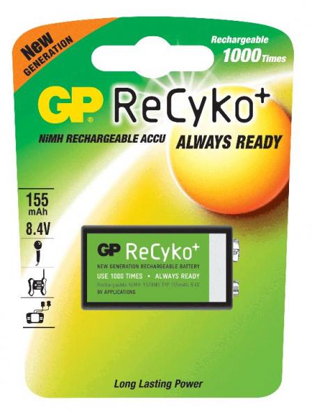 Acumulator GP 9V NiMH 150mAh Recyko [0]