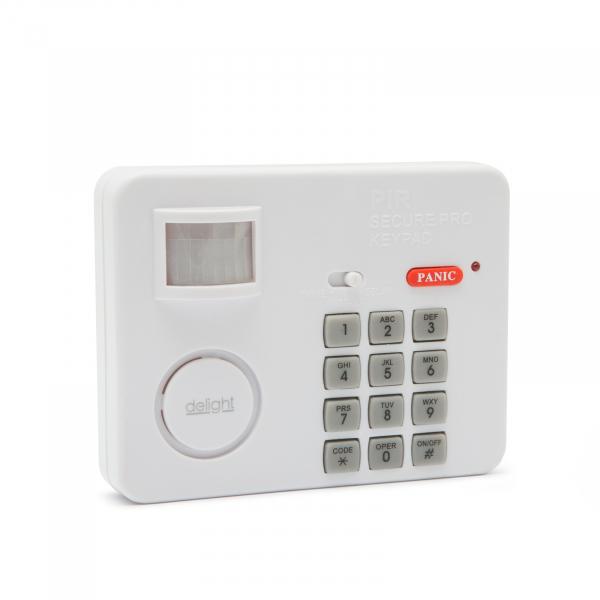 Alarma cu senzor de miscare cu protectie cu cod PIN 0