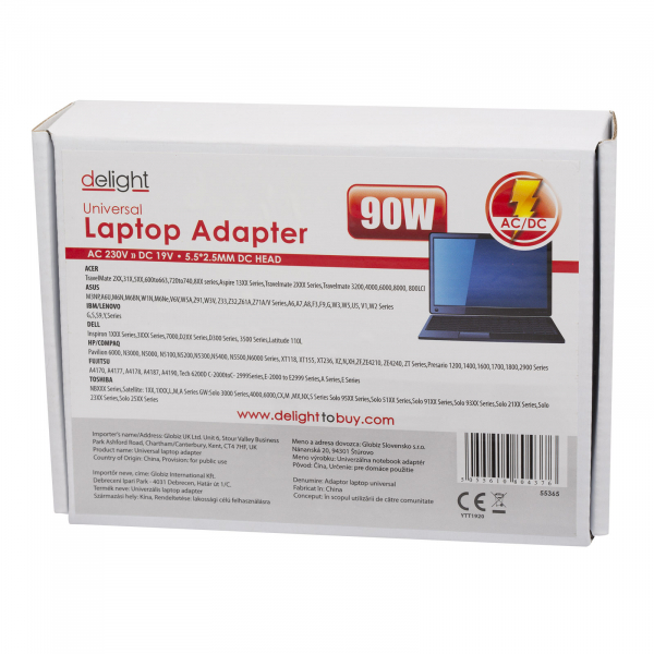 Alimentator laptop Universal 19V/4,72A 5,5/1,7mm [1]