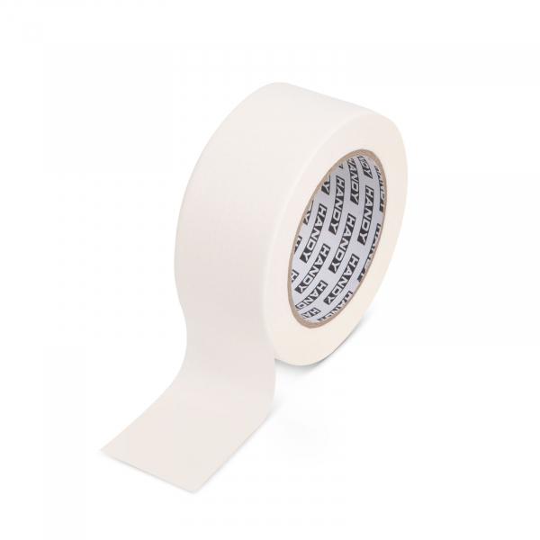 Banda de mascare - cu adeziv pe baza de apa - 50 m x 48 mm - alb [0]