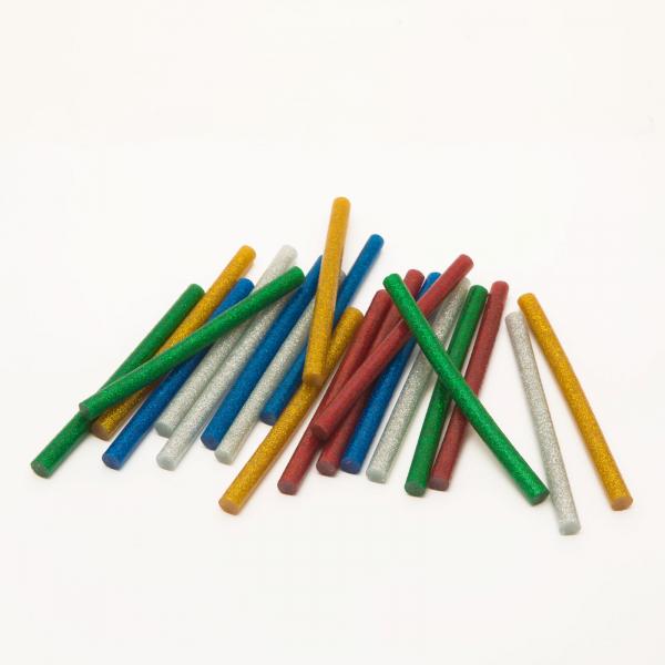 Baton silicon termoadeziv - 7 mm - colorat, glitter 0