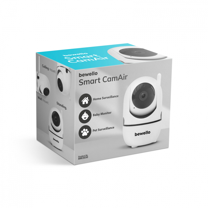 Cameră de supraveghere copii / bebelusi Smart - WiFi - 1080p - rotire 360° - pentru interior [6]