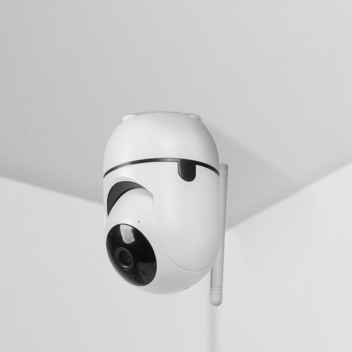 Cameră de supraveghere copii / bebelusi Smart - WiFi - 1080p - rotire 360° - pentru interior [4]