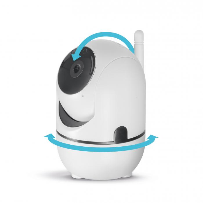 Cameră de supraveghere copii / bebelusi Smart - WiFi - 1080p - rotire 360° - pentru interior [1]