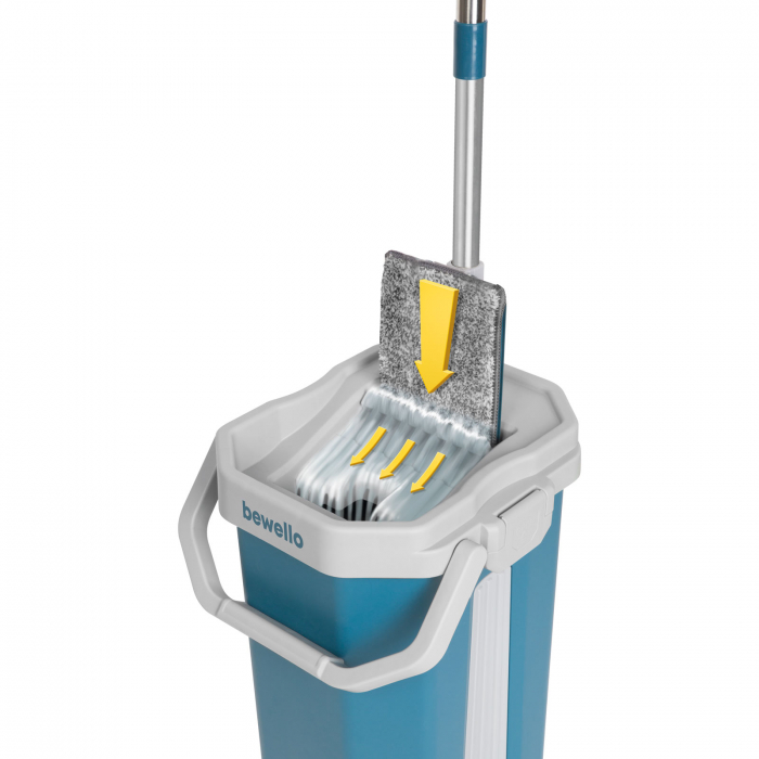 Set MOP, lavetă cu microfibre + găleată pentru curatenie [1]