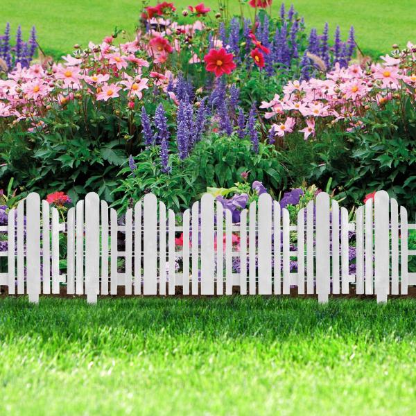 Bordura pt. pat de flori / gard - 61 x 30 - alb 0