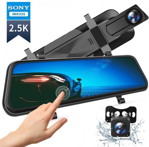 Camera auto DVR Dubla Oglinda VanTop H610  2.5K  Bord si Spate  Touch Screen  Unghi 160 grade  Senzor Sony IMX 335  G Senzor  Display 10   IPS 0