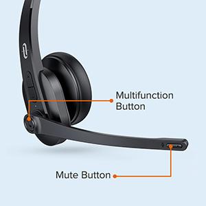 Casti call center cu bluetooth TaoTronics TT-BH04, Microfon, AI Noise Cancelling, functionare 34 ore 3