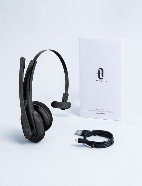 Casti call center cu bluetooth TaoTronics TT-BH04, Microfon, AI Noise Cancelling, functionare 34 ore 9