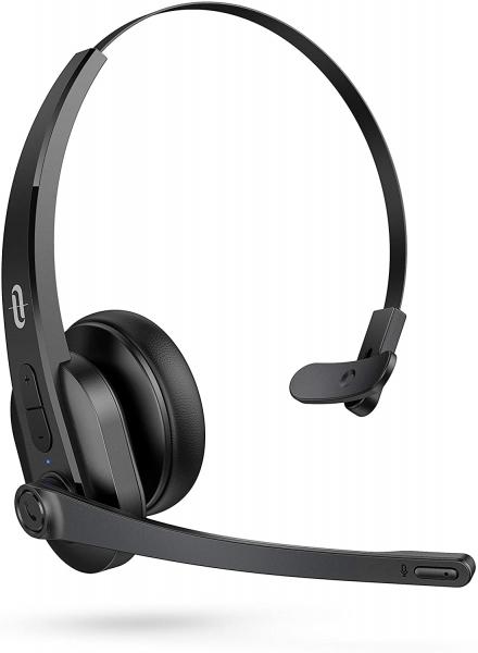 Casti call center cu bluetooth TaoTronics TT-BH04, Microfon, AI Noise Cancelling, functionare 34 ore 0