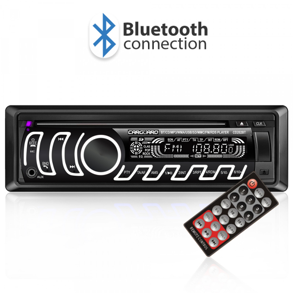 CD MP3 player auto cu BLUETOOTH, butoane in 7 culori diferite, FM, USB card SD, AUX IN 0