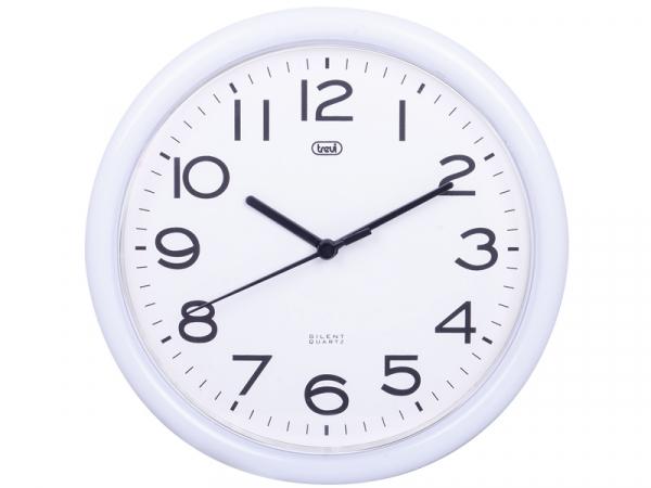 Ceas de perete cu quartz OM 3301, 24cm, alb, Trevi [0]