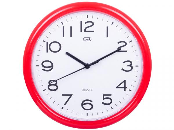 Ceas de perete cu quartz OM 3301, 24cm, rosu, Trevi [0]
