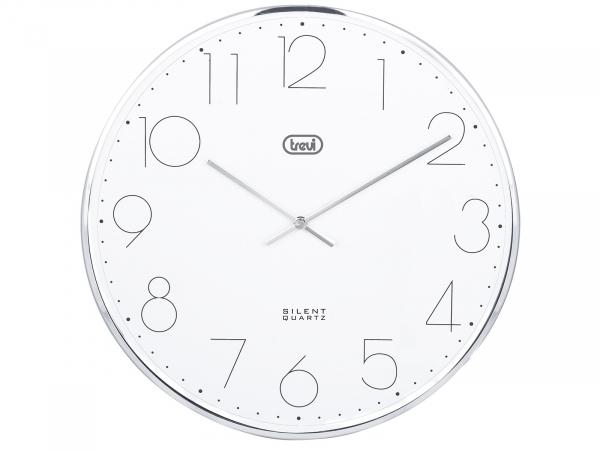 Ceas de perete cu quartz OM 3512 S, 30cm, argintiu, Trevi [0]