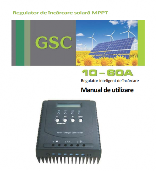 Controler solar MPPT incarcare solara 20A-12/24V 1