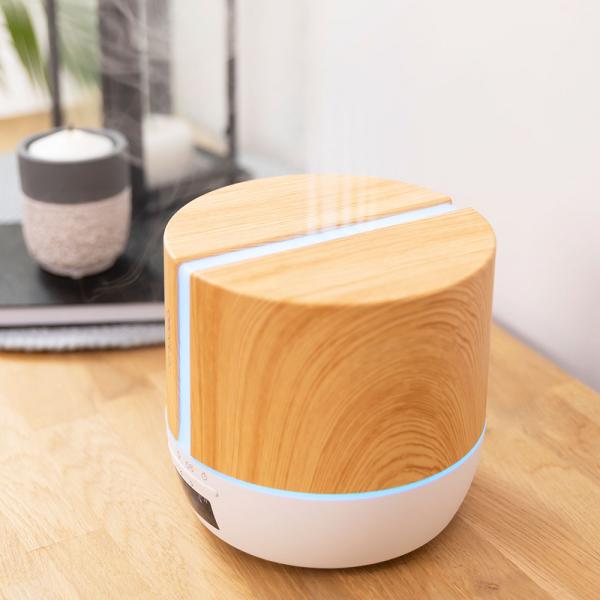 Difuzor aroma cu Ultrasunete Smart Cecotec PureAroma 550 Connected, control din Smartphone, 7 culori LED, boxa incorporata - Stejar 2