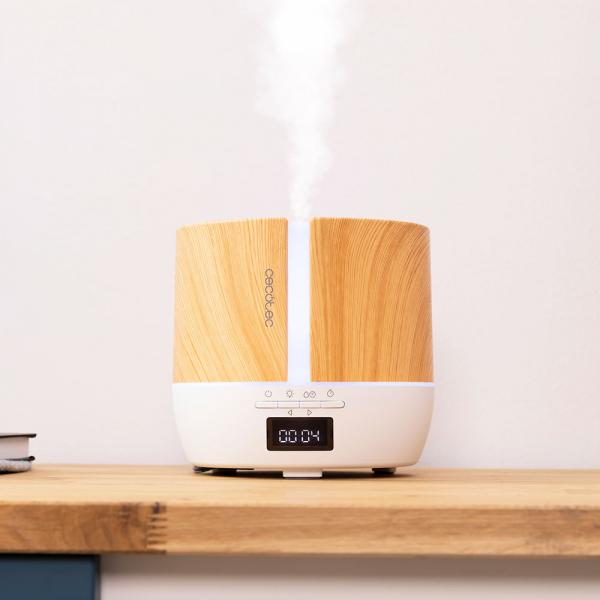 Difuzor aroma cu Ultrasunete Smart Cecotec PureAroma 550 Connected, control din Smartphone, 7 culori LED, boxa incorporata - Stejar 3