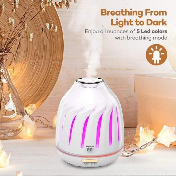 Difuzor aroma cu Ultrasunete TaoTronics TT AD007 120ml LED iluminare 5 culori 4