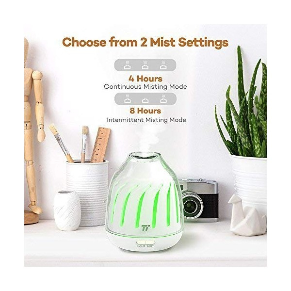 Difuzor aroma cu Ultrasunete TaoTronics TT AD007 120ml LED iluminare 5 culori 3