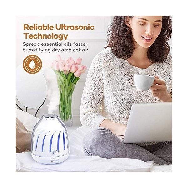 Difuzor aroma cu Ultrasunete TaoTronics TT AD007 120ml LED iluminare 5 culori [2]
