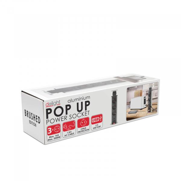Distribuitor 3 prize camuflat în mobilier, USB- metalizat-satinat 5