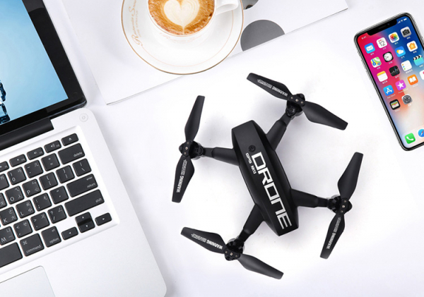 Drona KK12 GPS camera 1080p cu transmisie Wifi pe smartphone si geanta transport 3