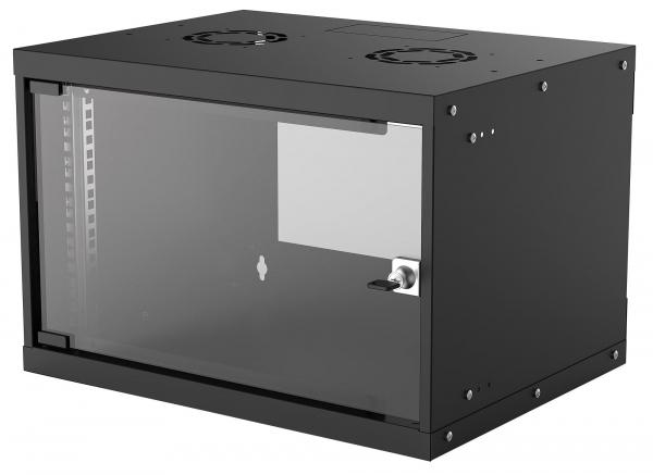 "Dulap rack perete 19"" 6U 35.3x54x40cm negru dezasamblat 714143 Intellinet [0]"