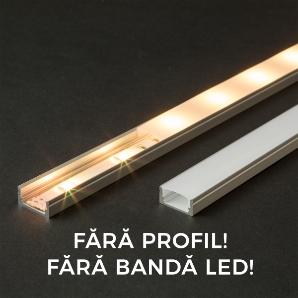 Ecran opal profil aluminiu LED - 1000 mm 0