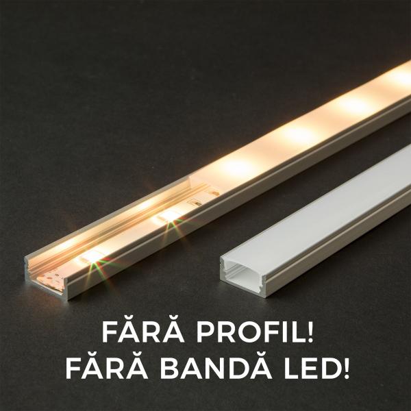 Ecran opal profil aluminiu LED - 2000 mm 0