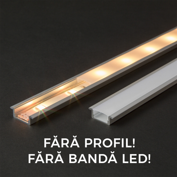 Ecran opal profil aluminiu LED - 2000 mm 0