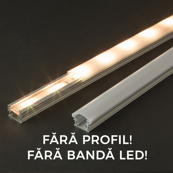 Ecran opal  profil LED, 41013M1, 1m [0]