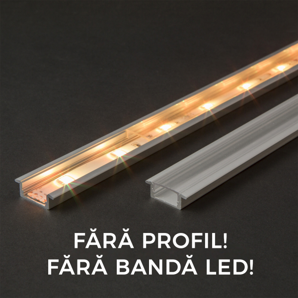 Ecran transparent profil aluminiu LED - 2000 mm 0