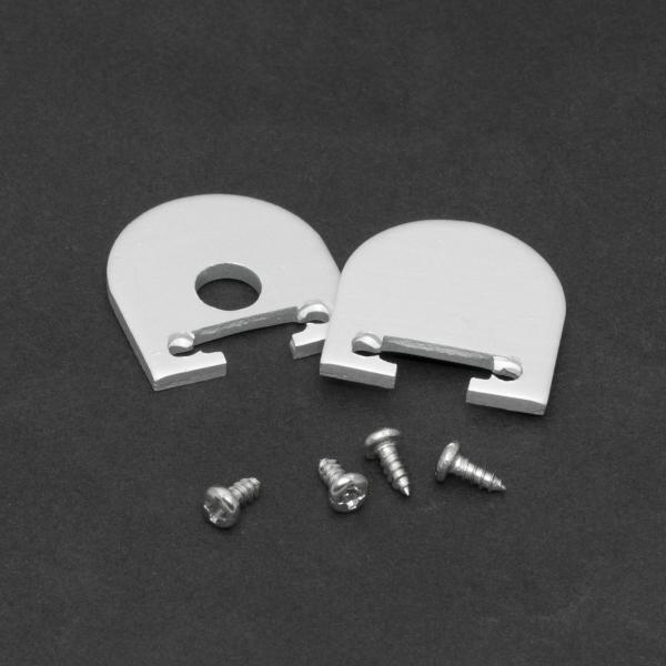 Element de inchidere pt. profiluri LED din aluminiu, 2 buc. 0