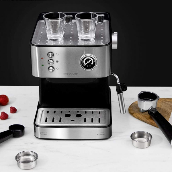 Espressor profesional Cecotec Power Espresso 20 Professionale, 850 W, 20 bar, 1.5 l, indicator luminos 1