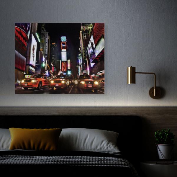 "Tablou cu LED - ""Times Square"", 2 x AA, 38 x 48 cm 1"
