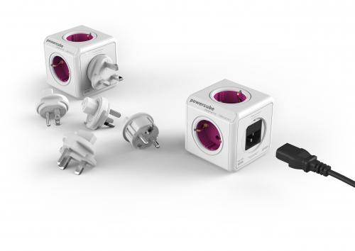 Fisa in forma de cub 4 prize + 4 mufe adaptoare ReWirable, Allocacoc 0