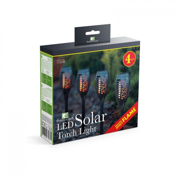 Garden of Eden - Lampă solară LED, model imitaţie de flacără - negru - material plastic- 480 x 75 mm 4