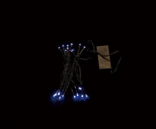 Ghirlanda luminoasa decorativa 20 LED-uri albastre cablu negru WELL [0]