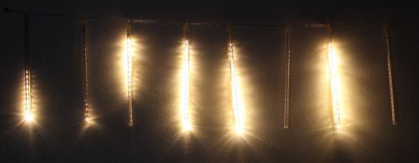 Ghirlanda luminoasa decorativa 8 turturi lumina alba cablu transparent, WELL 0